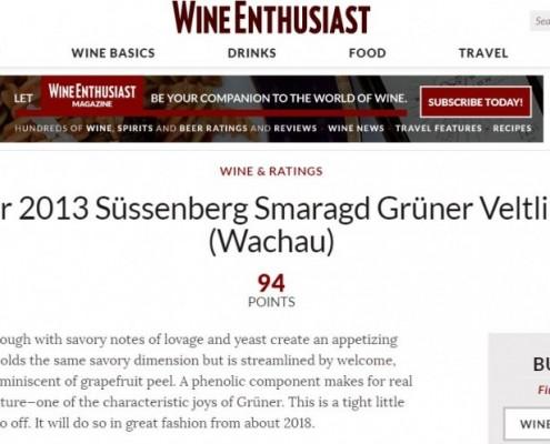 WineEnthusiast GV Smaragd Süssenberg 2013